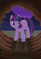 Day 23 - Twilight Sparkle In The Dark by hollowzero