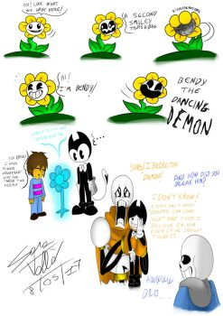undertale X batim 5 doddles (crossover) by Skullgirl-2000