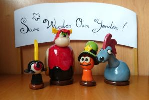 Figures of the characters from Wander Over Yonder. by DiscordLannister