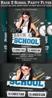 Back to School Party Flyer Template V2 by Hotpindesigns