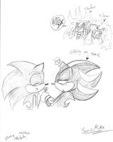 Mephalise hits on Sonic sketch by SonicMiku