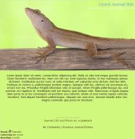 Lizard Journal Skin by caybeach