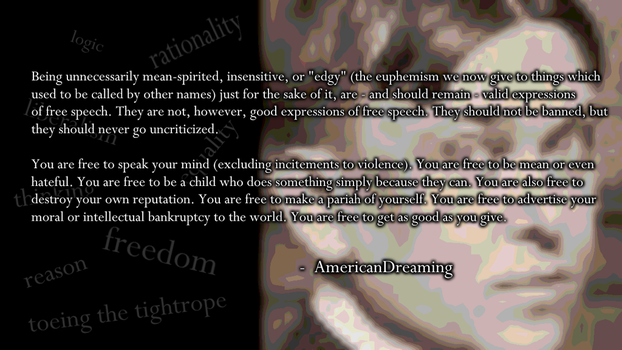 AmericanDreaming On Free Speech by TheArtFrog