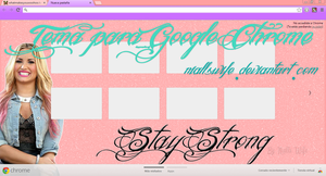 Say Strong tema para Chrome by NiallsWife