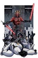 Darth Maul vs. Clone Troopers by Kminor