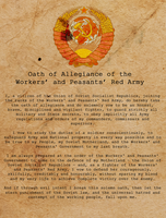 Red Army Oath of Allegiance by Party9999999