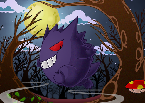 :Night Mischief: Gengar by endless-whispers