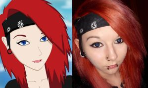 Anime and Real me ^^ by BlackBloodFire