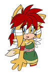 Gift: Alternate Universe: Echidna/Fox girl by DragonQuestHero
