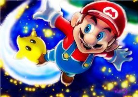 Super Mario Galaxy by QuantumGinger