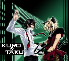 Kuro and Taku by omittchi