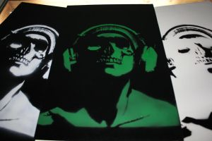 Stenciling (not my original work) by CHADtheMAD