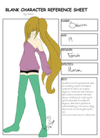 Sabrina Ref Sheet by CandiGhoul