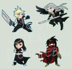 Final Fantasy 7-Chibis by arvalis