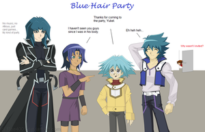 Blue Hair Party by Ravus4001