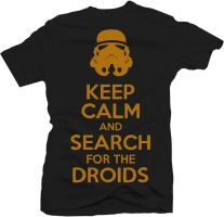 droids t-shirt design by cesterical