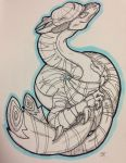 Spiral Dragon by SleepySketches