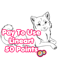 562. Pay to Use Feline Lineart. by Romantiik