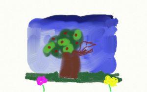 Tree and Flowers by PequenosArtistas