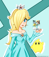 Rosalina And Amiibo by Misswaterfox