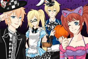 Happy Halloween: 1P/2P!Heta/Nyotalia! England by Yuki-the-Trickster