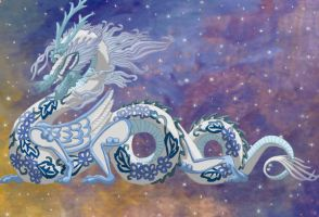 Blue China Dragon by Arkani