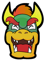 Wicked Bowser Face by silvermonochrome