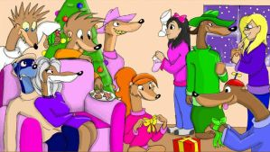 A Merry Weasels' Christmas by migzimixtup