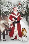 Santa in the Forest by LeeAnneKortus