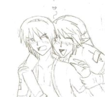 Marth x Link sketch by SparxPunx