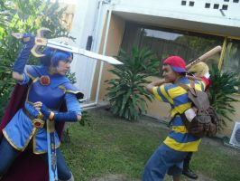 Smash cosplay - Marth vs Ness by MarthLowell94