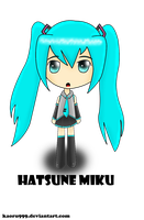 Art trade: Hatsune Miku by KaeLikesCheesecake