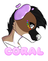 Coral Badge :Gift: by TheFrizzyKitten