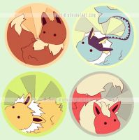 eevee evolution buttons by resubee