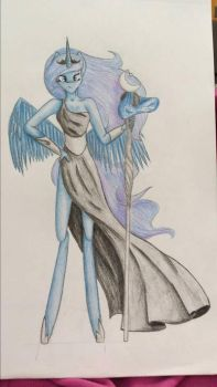 Anthro Luna by MysticMelodie