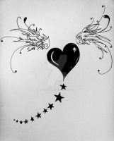 1st Heart Tat by PinkMarrionette