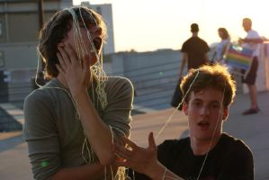 Silly String and People by 37mm-Angel