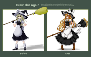 Draw this Again::Marisa by blind-decisions