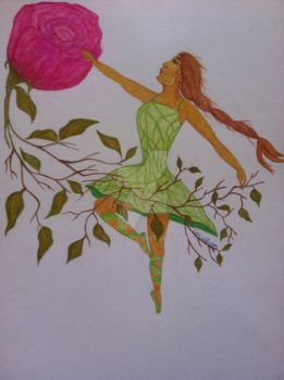 A dance with a rose by Ghiny