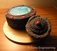 Stargate cake with DHD by cake-engineering
