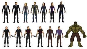 Agents of Shield, Deathlok, Hawkeye, Hulk by vandersonmetal