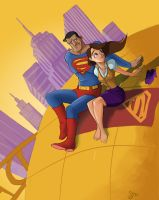 Lois and supes by SeanMcFarland
