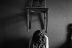 Hangin chair girl light by vallendesterstock