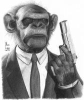 Mafian Ape by SubliminAlex