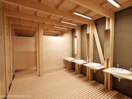 Public Toilet - interior night by zmoodel