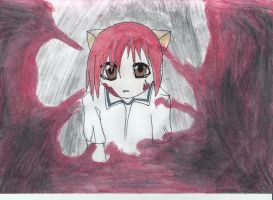 Lucy-Washed away in blood. by TheOmNom