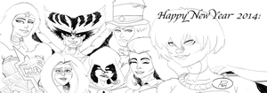 DC Female Heroes New Year 2014 by SirDNA109