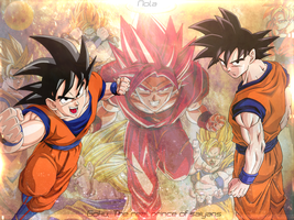 Wallpaper Goku Saiyan || TheGraphicsArts - Nola by TheGraphicsArts