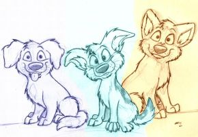 Three Little Pups by wahyawolf