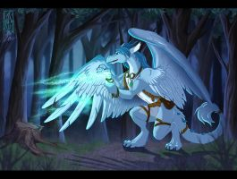 Featherfall - Commission by Lizkay